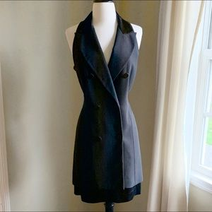Vintage Laundry by Shelli Segal Black Tuxedo Dress
